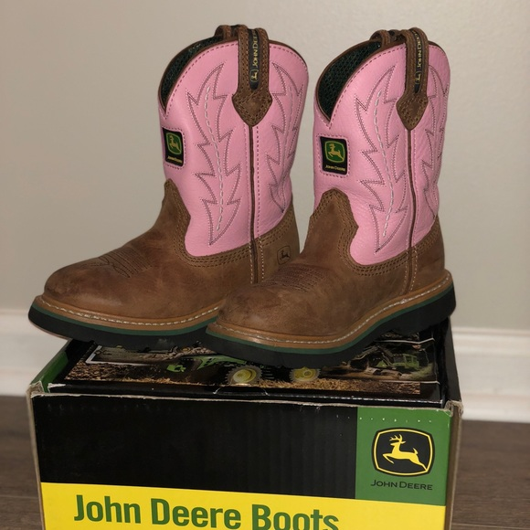 00d9d08ce0b John Deere Johnny Popper Little Girl Boots Sz 11.5